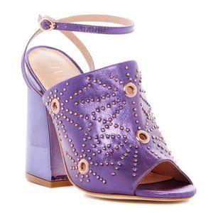 Ivy Kirzhner Epoque Purple Leather Sandal Pumps